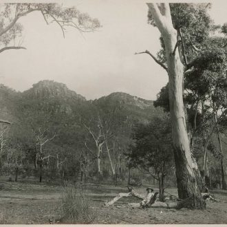 View from within valley – Halls Gap