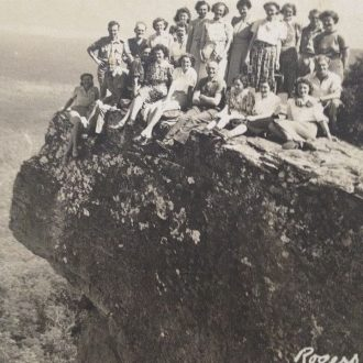 Tourists at Lawsons Lookout
