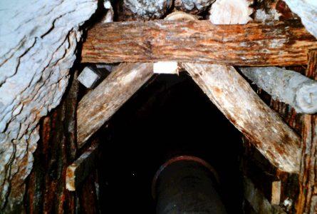 Interior of Mount William Tunnel.