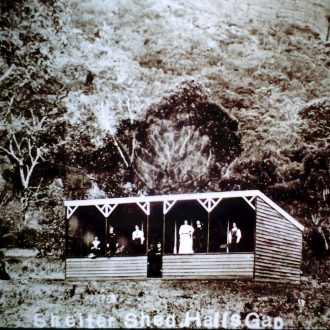 Picnic shelter, Halls Gap Camping Reserve.